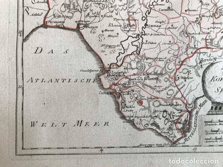 Arte: Mapa de Cádiz y Málaga (España), 1789. F. J. Joseph von Reilly - Foto 7 - 287679358