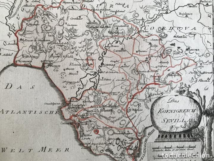 Arte: Mapa de Cádiz y Málaga (España), 1789. F. J. Joseph von Reilly - Foto 8 - 287679358