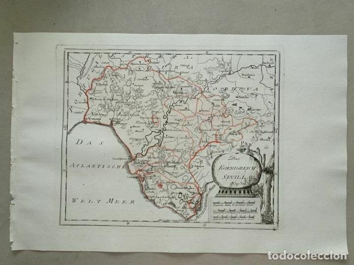 Arte: Mapa de Cádiz y Málaga (España), 1789. F. J. Joseph von Reilly - Foto 11 - 287679358