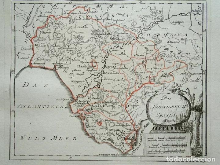 MAPA DE CÁDIZ Y MÁLAGA (ESPAÑA), 1789. F. J. JOSEPH VON REILLY (Arte - Cartografía Antigua (hasta S. XIX))