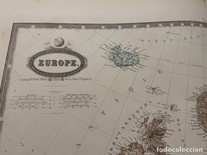 Arte: MAPA - EUROPE MAPA 1860 ATLAS - F.A. GARNIER - Foto 3 - 287846143