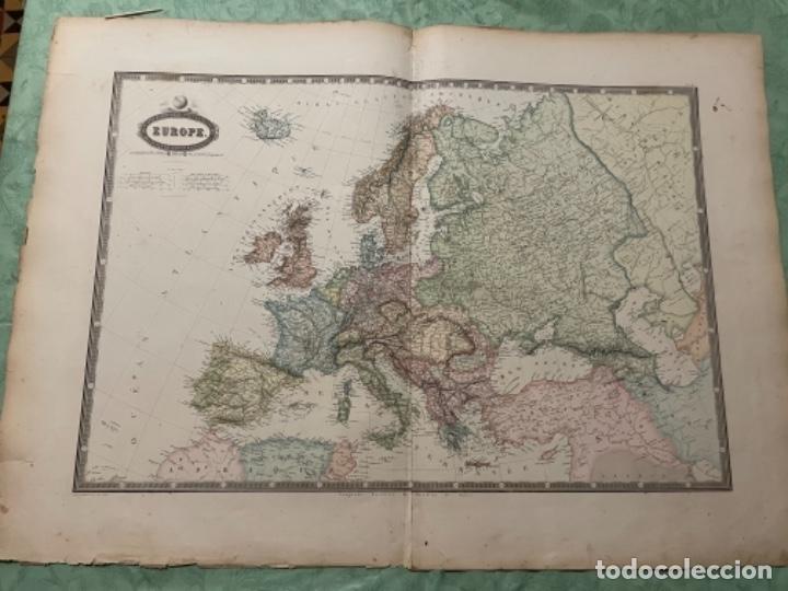 MAPA - EUROPE MAPA 1860 ATLAS - F.A. GARNIER (Arte - Cartografía Antigua (hasta S. XIX))