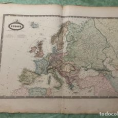 Arte: MAPA - EUROPE MAPA 1860 ATLAS - F.A. GARNIER. Lote 287846143