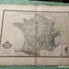 Arte: MAPA - FRANCE - ATLAS - 1860 DRESSE PAR F.A.GARNIER. Lote 287847613