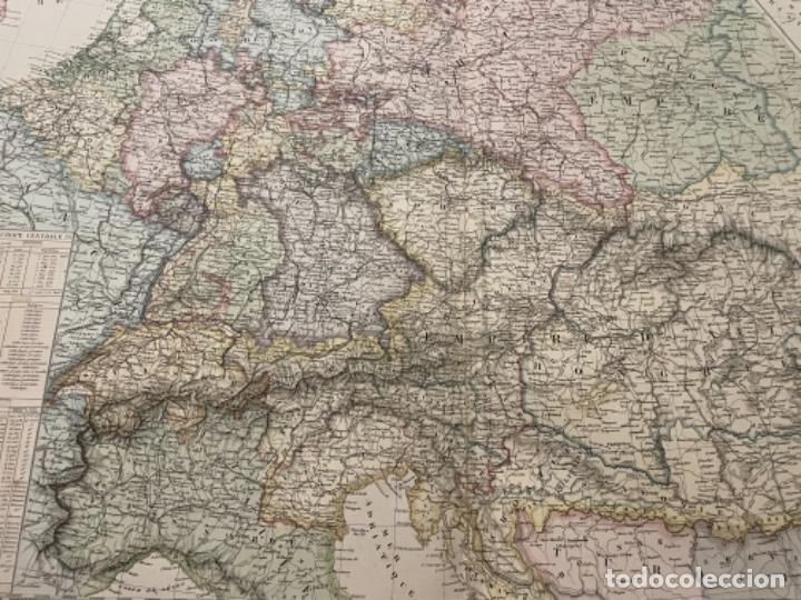 Arte: MAPA - EUROPE CENTRALE EMPIRE DAUSTRICHE , RUSSE, BAVIÈRE, SAXE, ET TOUS LES ÉTATS FO - ATLAS -1860 - Foto 2 - 287849448