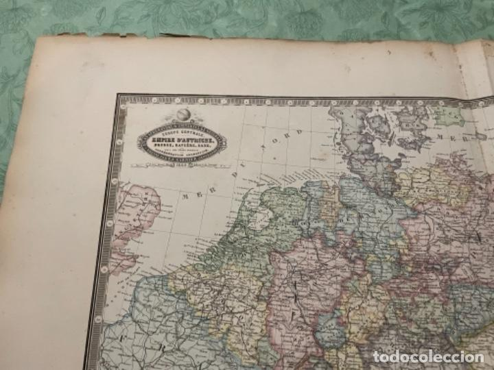 Arte: MAPA - EUROPE CENTRALE EMPIRE DAUSTRICHE , RUSSE, BAVIÈRE, SAXE, ET TOUS LES ÉTATS FO - ATLAS -1860 - Foto 3 - 287849448