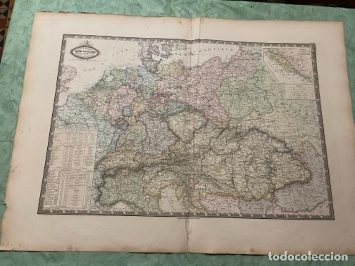 MAPA - EUROPE CENTRALE EMPIRE D'AUSTRICHE , RUSSE, BAVIÈRE, SAXE, ET TOUS LES ÉTATS FO - ATLAS -1860 (Arte - Cartografía Antigua (hasta S. XIX))