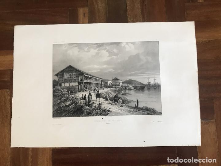 Arte: Puerto y ciudad de Guayaquil (Ecuador, América del sur), 1840. Vaillant/Bayot/Bische/Lauvergne - Foto 2 - 287870063
