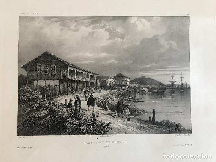 Arte: Puerto y ciudad de Guayaquil (Ecuador, América del sur), 1840. Vaillant/Bayot/Bische/Lauvergne - Foto 3 - 287870063