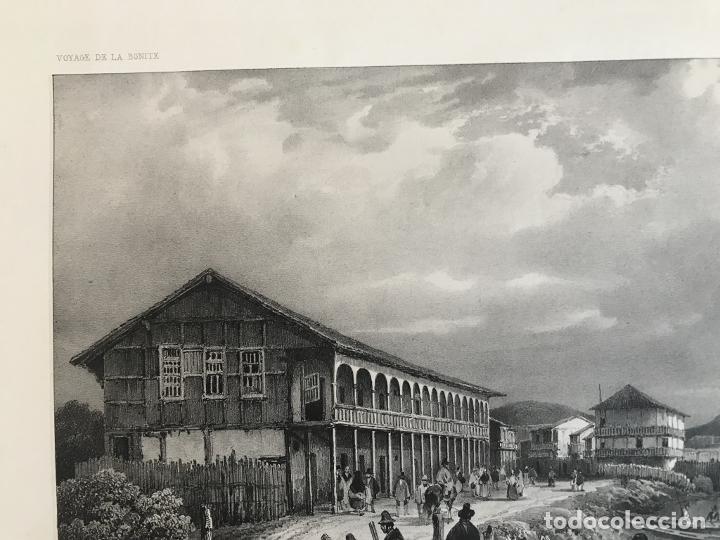 Arte: Puerto y ciudad de Guayaquil (Ecuador, América del sur), 1840. Vaillant/Bayot/Bische/Lauvergne - Foto 4 - 287870063