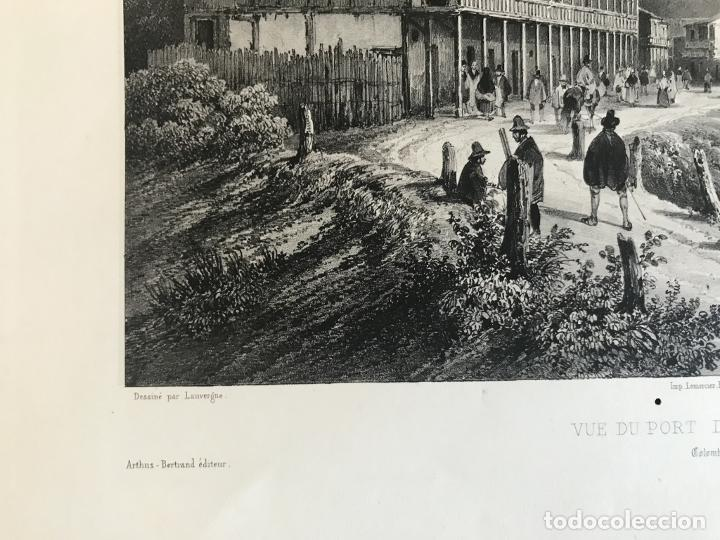 Arte: Puerto y ciudad de Guayaquil (Ecuador, América del sur), 1840. Vaillant/Bayot/Bische/Lauvergne - Foto 6 - 287870063