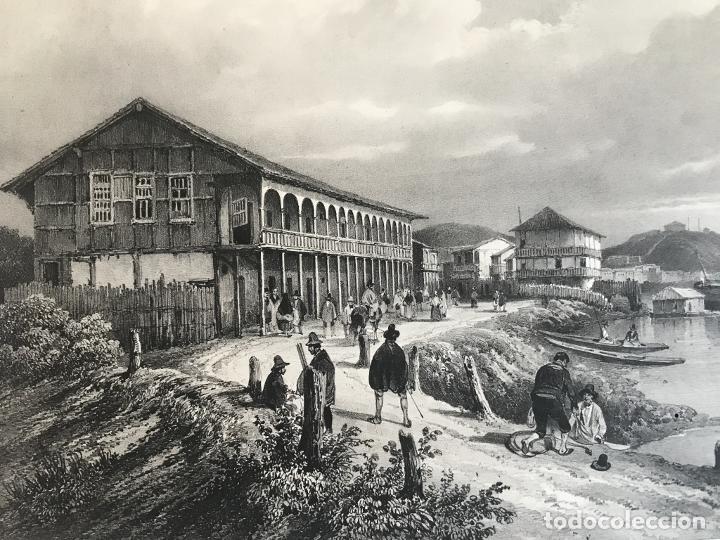 Arte: Puerto y ciudad de Guayaquil (Ecuador, América del sur), 1840. Vaillant/Bayot/Bische/Lauvergne - Foto 7 - 287870063