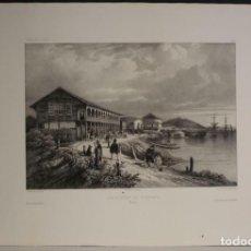 Arte: PUERTO Y CIUDAD DE GUAYAQUIL (ECUADOR, AMÉRICA DEL SUR), 1840. VAILLANT/BAYOT/BISCHE/LAUVERGNE. Lote 287870063