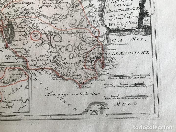 Arte: Mapa de Sevilla y Cádiz (Andalucía, España), 1789. Reilly - Foto 6 - 287914563