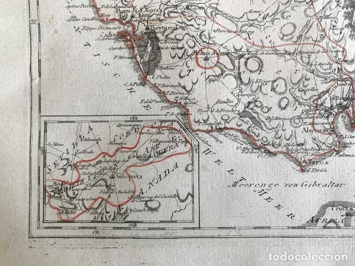 Arte: Mapa de Sevilla y Cádiz (Andalucía, España), 1789. Reilly - Foto 7 - 287914563