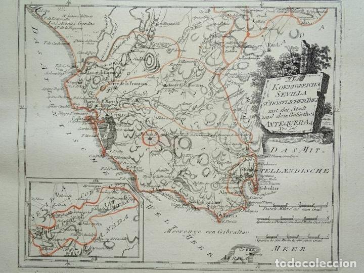 MAPA DE SEVILLA Y CÁDIZ (ANDALUCÍA, ESPAÑA), 1789. REILLY (Arte - Cartografía Antigua (hasta S. XIX))