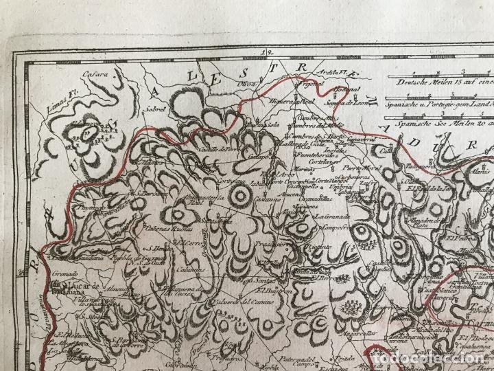 Arte: Mapa de Huelva y Sevilla (España), 1789. F. J. Joseph von Reilly - Foto 4 - 287917258