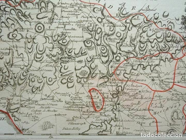 Arte: Mapa de Huelva y Sevilla (España), 1789. F. J. Joseph von Reilly - Foto 10 - 287917258