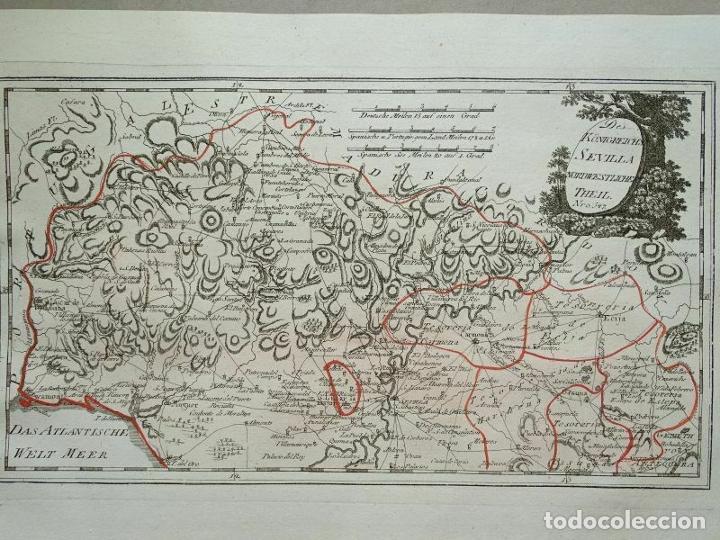MAPA DE HUELVA Y SEVILLA (ESPAÑA), 1789. F. J. JOSEPH VON REILLY (Arte - Cartografía Antigua (hasta S. XIX))