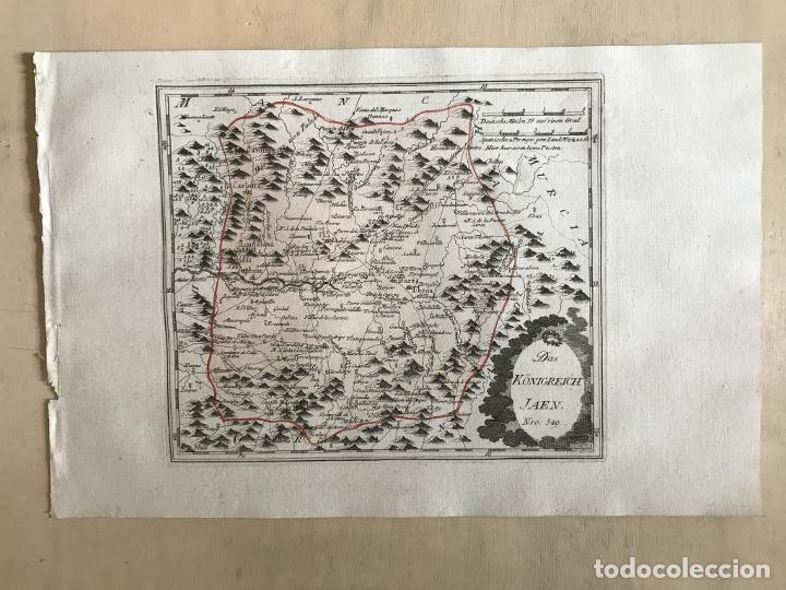 Arte: Mapa de Jaén e inmediaciones (Andalucía, España), 1789. Reilly - Foto 2 - 287920023