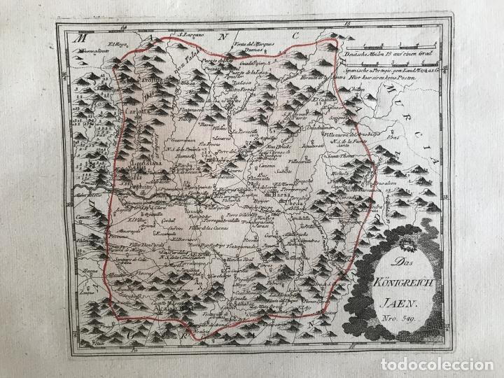 Arte: Mapa de Jaén e inmediaciones (Andalucía, España), 1789. Reilly - Foto 3 - 287920023