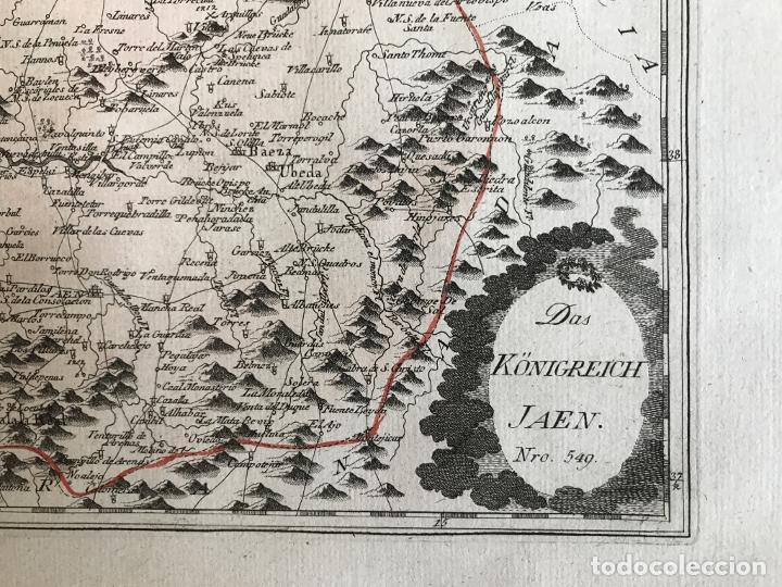 Arte: Mapa de Jaén e inmediaciones (Andalucía, España), 1789. Reilly - Foto 6 - 287920023