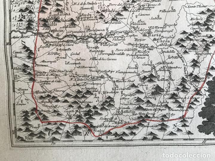 Arte: Mapa de Jaén e inmediaciones (Andalucía, España), 1789. Reilly - Foto 7 - 287920023