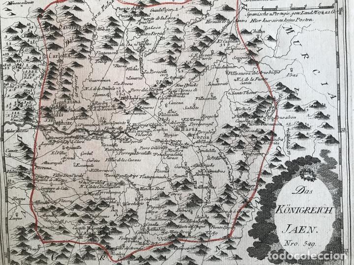 Arte: Mapa de Jaén e inmediaciones (Andalucía, España), 1789. Reilly - Foto 8 - 287920023