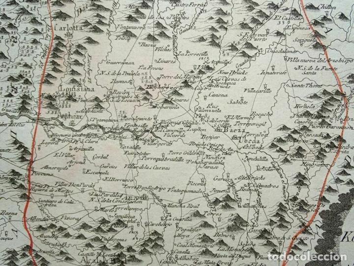 Arte: Mapa de Jaén e inmediaciones (Andalucía, España), 1789. Reilly - Foto 11 - 287920023
