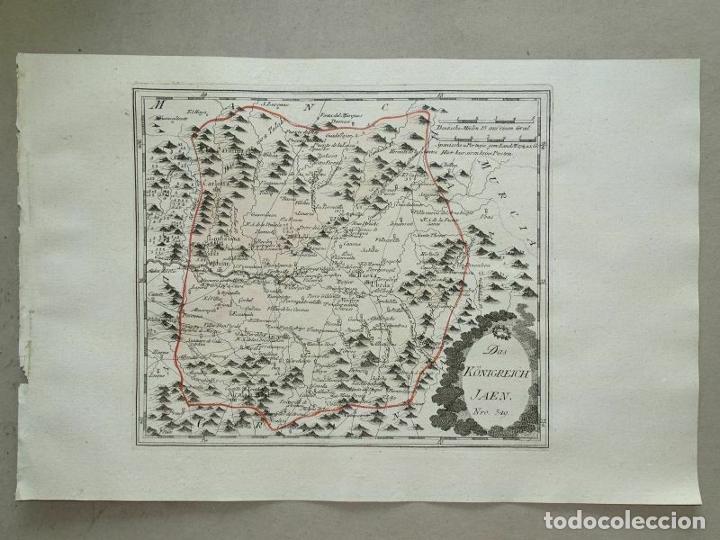 Arte: Mapa de Jaén e inmediaciones (Andalucía, España), 1789. Reilly - Foto 12 - 287920023