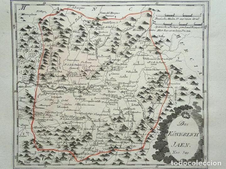 MAPA DE JAÉN E INMEDIACIONES (ANDALUCÍA, ESPAÑA), 1789. REILLY (Arte - Cartografía Antigua (hasta S. XIX))