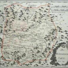 Arte: MAPA DE JAÉN E INMEDIACIONES (ANDALUCÍA, ESPAÑA), 1789. REILLY. Lote 287920023