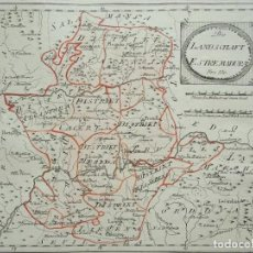 Arte: MAPA DE CÁCERES Y BADAJOZ E INMEDIACIONES (EXTREMADURA, ESPAÑA), 1789. REILLY. Lote 287923918