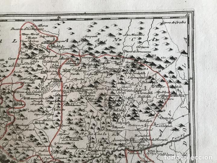 Arte: Mapa del norte de Cáceres e inmediaciones (Extremadura, España), 1789. Reilly - Foto 5 - 287927393