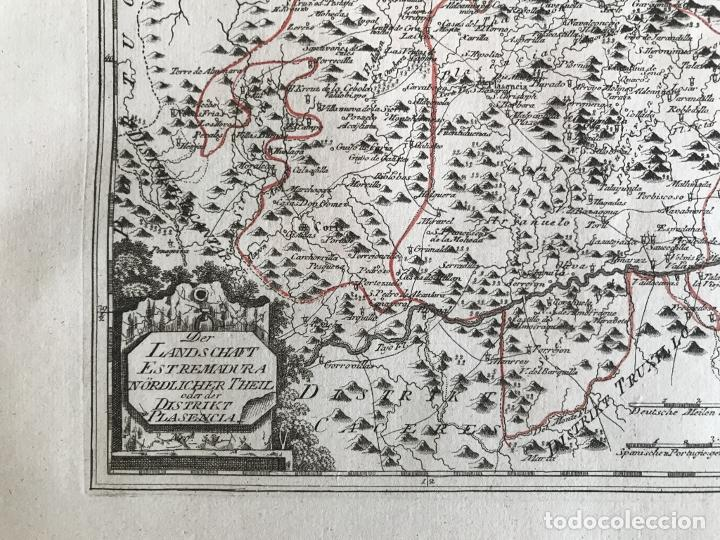 Arte: Mapa del norte de Cáceres e inmediaciones (Extremadura, España), 1789. Reilly - Foto 7 - 287927393