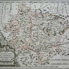 Arte: MAPA DEL NORTE DE CÁCERES E INMEDIACIONES (EXTREMADURA, ESPAÑA), 1789. REILLY. Lote 287927393