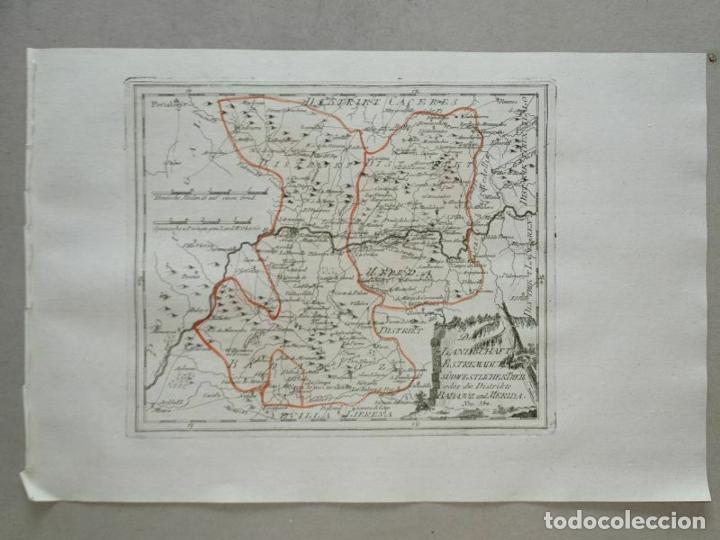 Arte: Mapa de Mérida y Badajoz e inmediaciones (Extremadura, España), 1789. Reilly - Foto 11 - 287930543