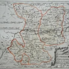 Arte: MAPA DE MÉRIDA Y BADAJOZ E INMEDIACIONES (EXTREMADURA, ESPAÑA), 1789. REILLY. Lote 287930543