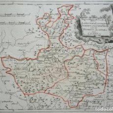 Arte: MAPA DE ALCÁNTARA Y CÁCERES E INMEDIACIONES (EXTREMADURA, ESPAÑA), 1789. REILLY. Lote 287933683