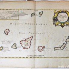 Arte: LES ISLES CANARIES PAR P. DU VAL D'ABBEVILLE GEOGRAPHE ORDINAIRE DU ROY A PARIS. 1653. CANARIAS.. Lote 288312313