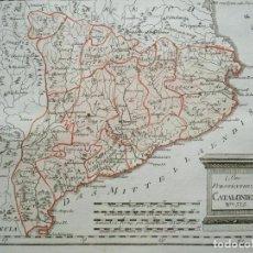 Arte: MAPA DE CATALUÑA Y ZONAS LIMÍTROFES (ESPAÑA), 1789. F. J. JOSEPH VON REILLY. Lote 290537108