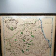 Arte: MAPA CARTOGRÁFICA EPISCOPATUS DUNELMENSIS THE BIFHOPRICK OF DURHAM BY ROBT MORDEN. Lote 292394243