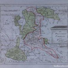 Arte: MAPA DE PALÈNCIA, TORO, VALLADOLID, REINOSA Y ALREDEDORES - AÑO 1791 - REILLY. Lote 295774683