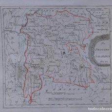 Arte: MAPA DE SALAMANCA, CIUDAD RODRIGO Y ALREDEDORES - AÑO 1791 - REILLY. Lote 295776748