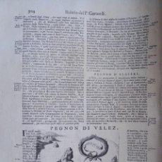 Arte: MAPA GRABADO DEL PEÑON DE VELEZ DE LA GOMERA - AÑO 1690 - CORONELLI. Lote 295779123