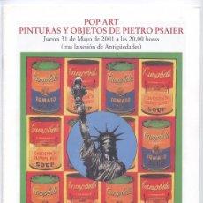 Arte: CATÁLOGO POP ART DE DURÁN 2001. Lote 26409922
