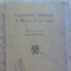 Arte: PALACIO RETIRO LIBRO ANTIGUO MADRD EXPOSICION NACIONAL 1953 PINTURA ANTIGUA ESCULTURA ARQUITECTURA. Lote 26469496