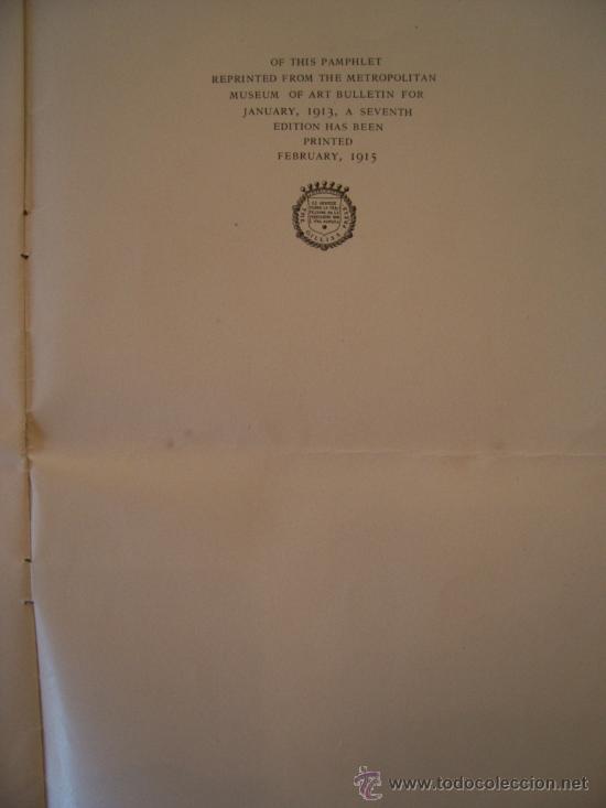 Arte: Vendo catalogo de 1915 del The Metropolitan Museum of Art- collection Of Paintings Lent By J. Pierp. - Foto 3 - 26388904