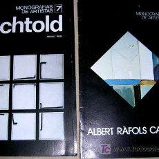 Arte: BECHTOLD Y ALBERRT RAFOLS. DE 1977. 2 MONOGRFIAS. POR ARNAU PUIG. ENVIO PAGO.. Lote 24214012