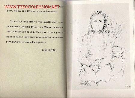 CATÁLOGO MIGNONI : DIBUJOS ORIGINALES ( CON TEXTO DE JOSÉ HIERRO) - 1972 (Arte - Catálogos)